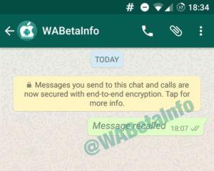WhatsApp Nachricht zurückholen