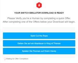 nintendo switch emulator fake
