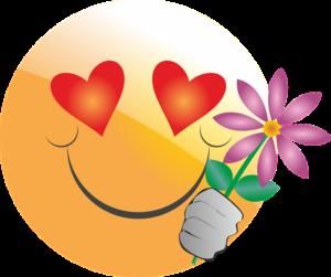 Romantische Emoticons