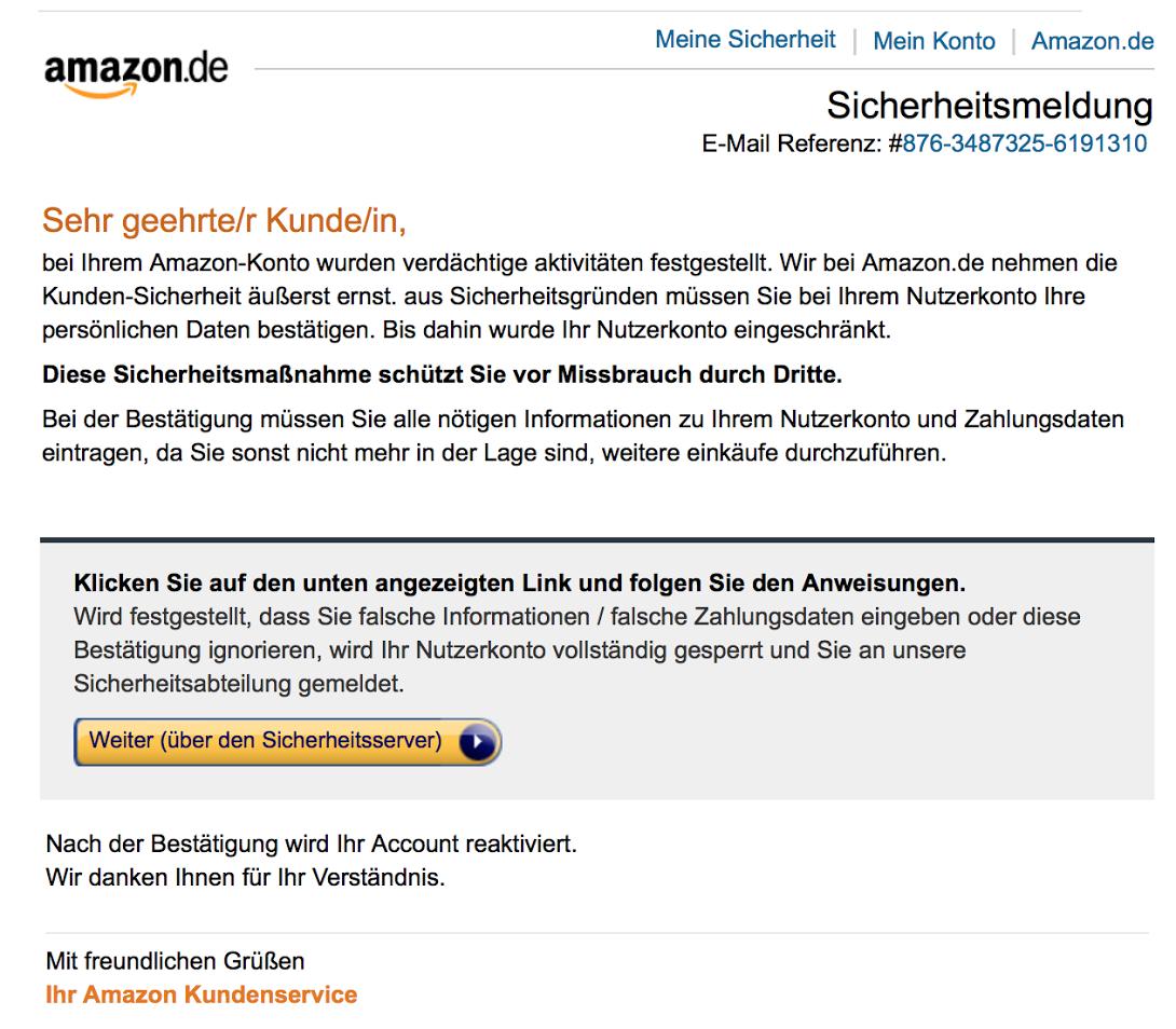 Amazon käufer mail adresse