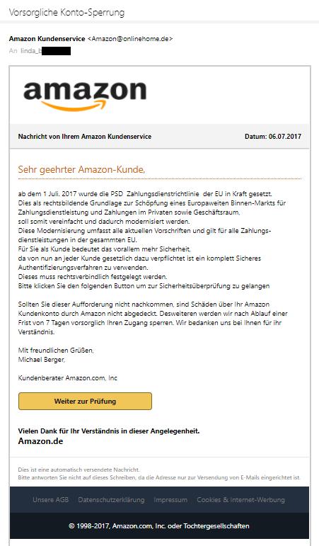 Beschwerde An Amazon