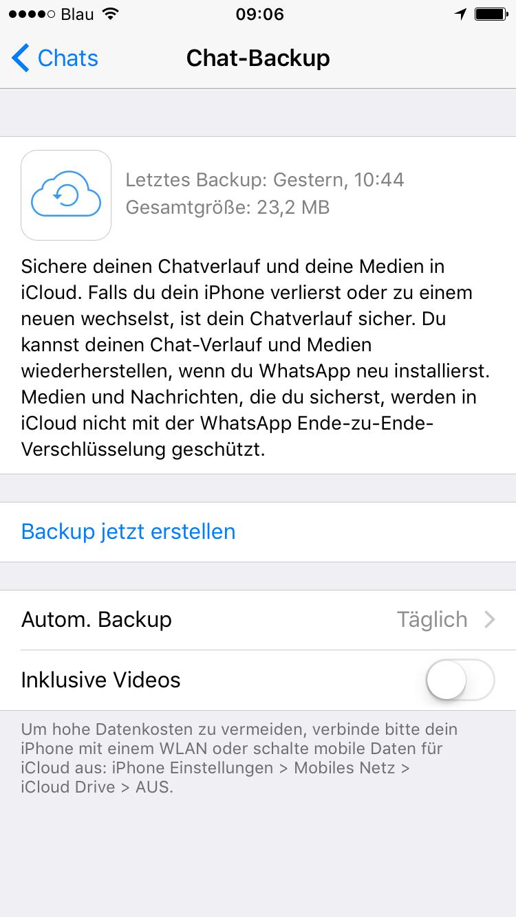 verlauf von whatsapp wiederherstellen iphone