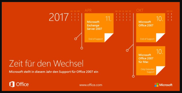 Office 2007 Support Ende