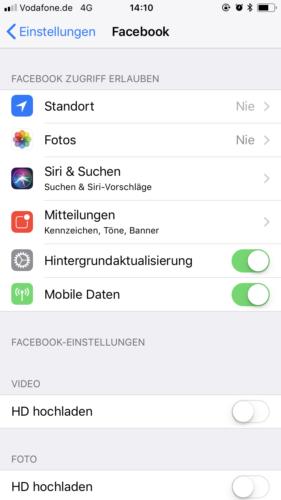 iPhone App Berechtigung