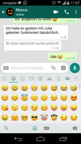 Nachrichten löschen WhatsApp