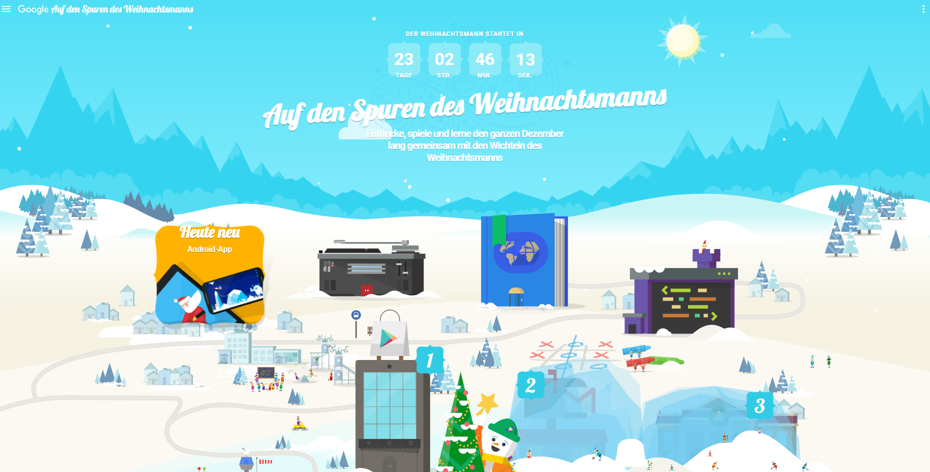 santa tracker wie ihr den weihnachtsmann auf google. Black Bedroom Furniture Sets. Home Design Ideas