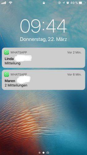 Siri - Sprachassistent - Datenleck - Sperrbildschirm-Nachrichten.