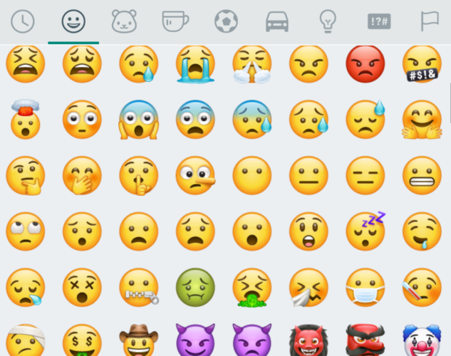 WhatsApp-Emoticons - WhatsApp-Emojis - WhatsApp-Missverständnisse - Smileys WhatsApp - Bedeutung Smiley. Foto: Screenshot