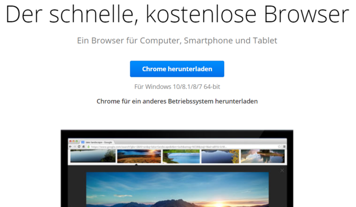 Chrome-Update - Phishing - Google Browser - Chrome 66. Foto: Screenshot