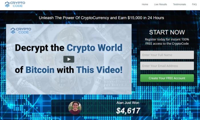 Bitcoin-Überweisung - Cryptocode - Bitcoin Austria - Bitcoin gewinnen. Screenshot: cryptocode.online