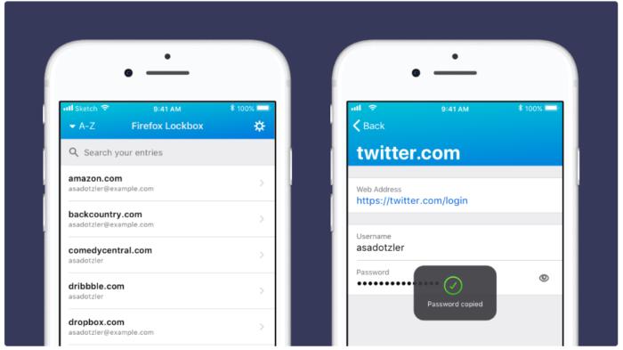 Lockbox - Firefox für iOS - Passwortverwaltung - Firefox Mobile - Firefox-Konto