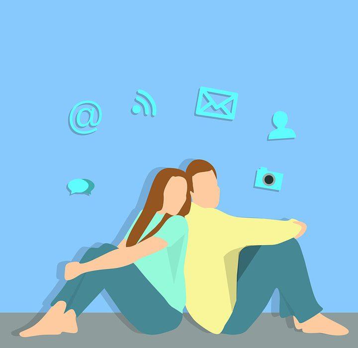 Online virtuelle Dating-Welt