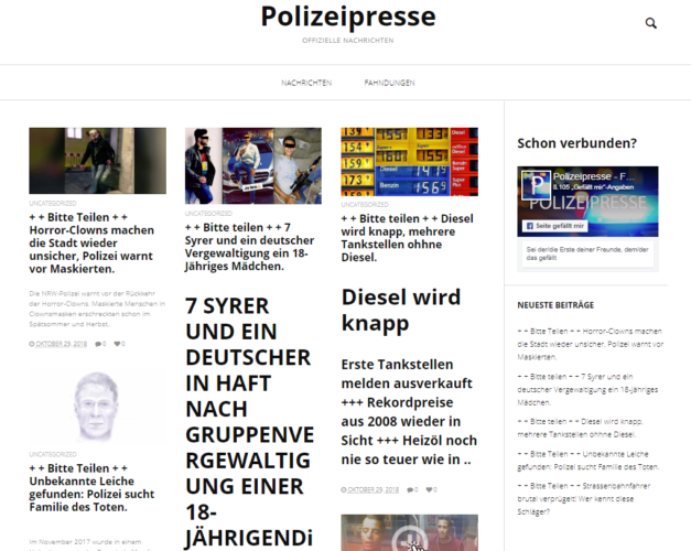 Schadsoftware - Adware - Betrug - polizei-presse. Foto: Screenshot