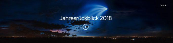 Google-Suchanfragen: Jahresrückblick 2018