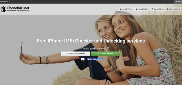 Der Screenshot zeigt die Startseite von iphoneimei.net - angeblich könnt ihr hier euer Smartphone entsperren lassen. Foto: Screenshot.