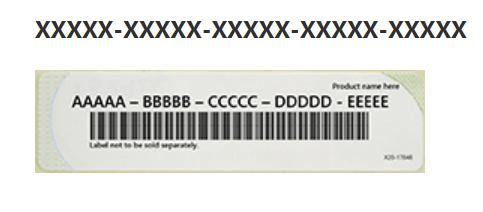 Der Screenshot zeigt einen offiziellen Microsoft-Product-Key. Foto: Screenshot