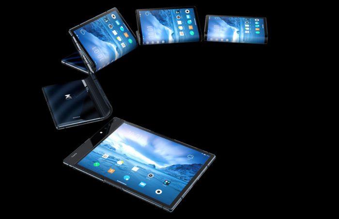 Auf der Technik-Messe CES hat Royole hat das erste faltbare Handy gezeigt. (Bild: Royole)