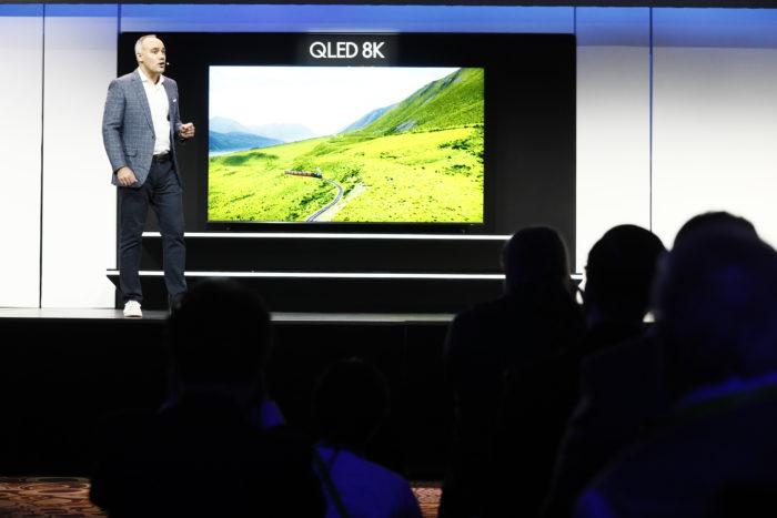 Besonders gespannt erwartet wurde die Vorstellung der neuen Samsung Smart-TVs auf der Technik-Messe CES. (Bild: CES)
