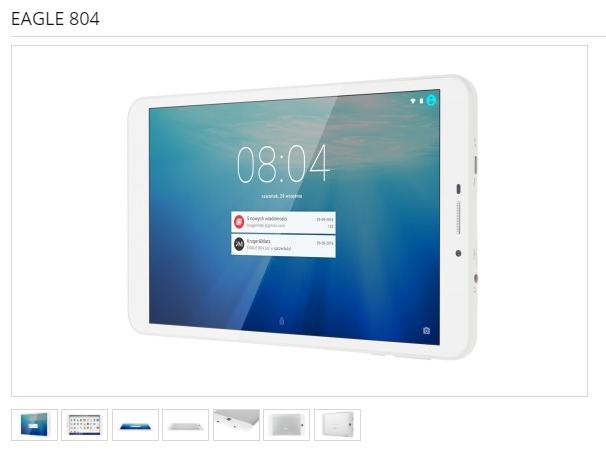 Das Tablet Eagle 804 mit vorinstallierter Schadsoftware. Foto: Screenshot