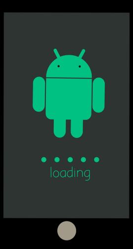 Zu sehen ist ein Smartphone mit Android-Männchen und den Ladepunkten. Es symbolisiert die Installation der Vorabversion für Beta-Tester. Foto: Pixabay