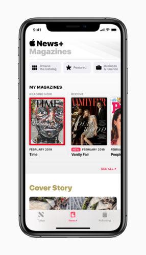 Apple News Plus auf dem iPhone (Bild: Apple)