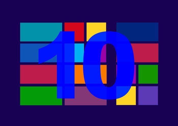 Das Bild zeigt einen symbolischen Windows-Bildschirm mit Kacheln und einer 10. Es symbolisiert das Windows-April-Update. Foto: Pixabay