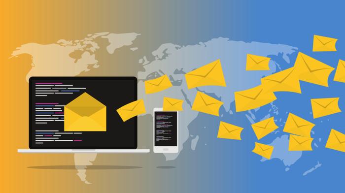 Computersymbol aus dem zu hauf E-Mails mit Zahlungsaufforderung kommen. Bild: Pixabay
