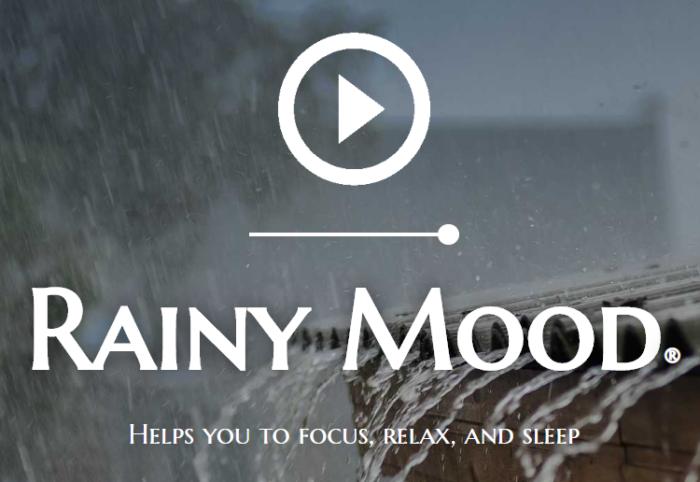 Screenshot der Homepage von Rainy Mood. Bild: Screenshot
