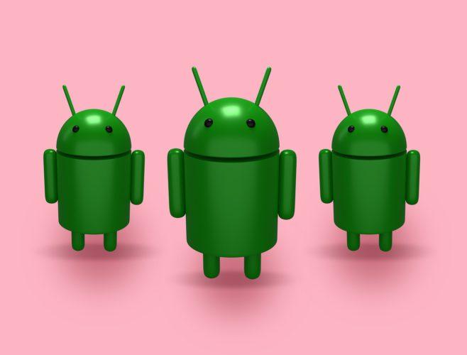 Drei Android-Männchen, die für das Software-Update stehen. ErstAndroid Q soll die Hintertür für die App-Berechtigungen geschlossen werden. Foto: Pixabay
