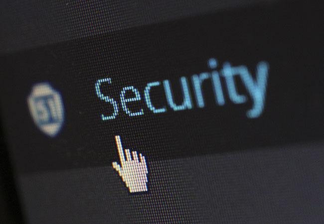 Pegasus-Spyware: Bildschirm-Ausschnitt mit Security-Schriftzug. Bild: Pexels/Pixabay