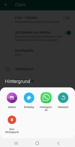 Der Screenshot zeigt WhatsApp-Tipps, in diesem Fall die Einstellung des Hintergrundbildes. Foto: Screenshot PC-SPEZIALIST