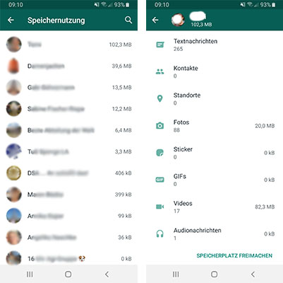 Zu unseren WhatsApp-Tipps gehört auch die WhatsApp-Statistik. Foto: Screenshots/Montage PC-SPEZIALIST