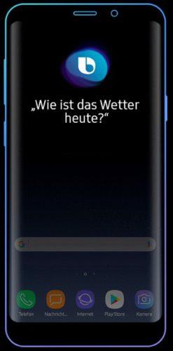 Samsung hört mit: Das Foto zeigt Bixby, den Sprachassistenen von Samsung auf einem Handy. Foto: Screenshot
