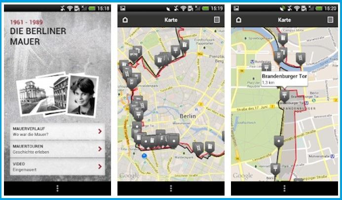 Die App-Screenshots zeigen Ausschnitte aus dem Kartenmaterial der App. Foto: Screenshots