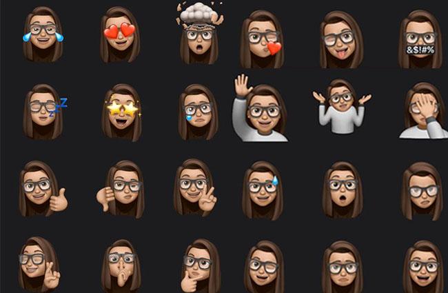 Zzu sehen sind personalisierte Emojis. Die Memojis kommen mit dem iOS-13-Update. Bild: Twitter / @JassAricia