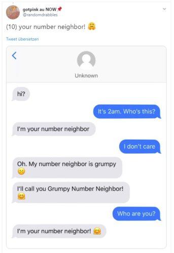 Screenshot der Nummern-Nachbar-Challenge auf Twitter. Foto: Screenshot/gotpink au NOW