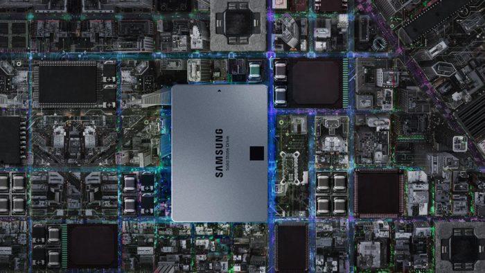 Samsung-EVO 860 QVO auf einer Platine. Foto: Samsung