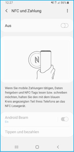 Der Screenshot zeigt die die App Android Beam auf einem Smartphone. Bild: Screenshot PC-SPEZIALIST