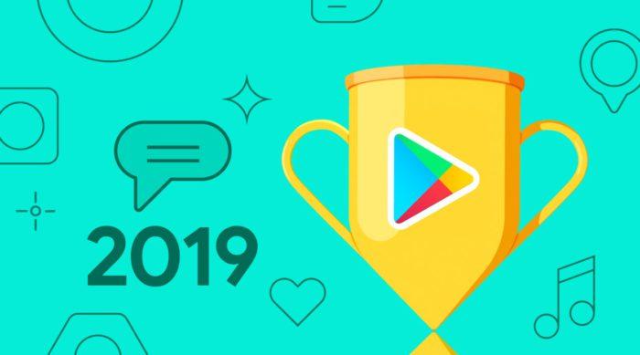 Das Bild zeigt einen Pokal mit dem Logo des Google Play Stores. Er hat die beste App 2019 gekürt. Bild: Google