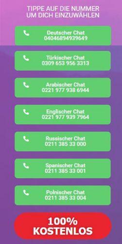 Base chat telefonnummer