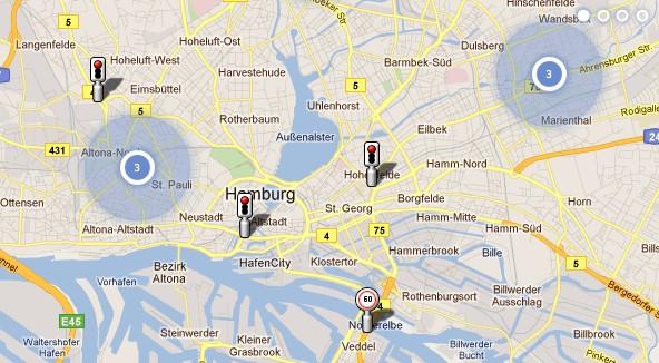 Das Bild zeigt einen Screenshot des Anbieters Blitzer.de, welcher die beliebteste Blitzer-App Deutschlands zur Verfügung stellt. Bild: Screenshot Blitzer.de