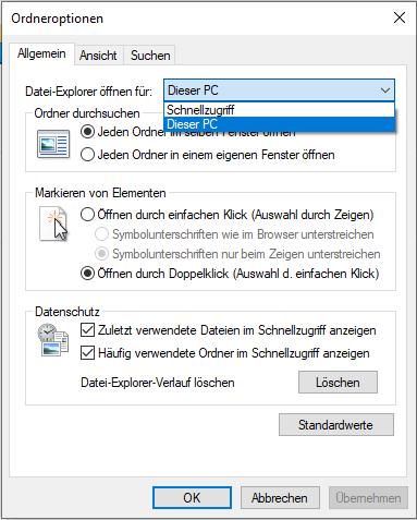 Das Bild zeigt einen Screenshot, mit dem ihr die gewohnte Funktion Windows + E wie gewohnt nutzen könnt. Denn nicht nur die Windows 10 Taskleiste lässt sich anpassen. Bild: Screenshot PC-SPEZIALIST