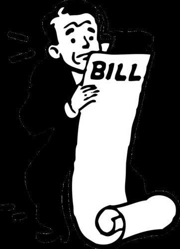 Grafisch dargestellter Mann mit langer Rechnung. Mit redirect wäre das nicht passiert. Bild: Pixabay