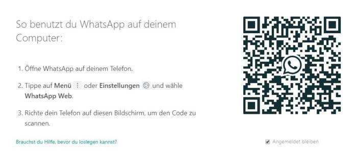 Das Bild zeigt einen Screenshot der Werseite WhatsApp Web, die man dafür nutzen kann, WhatsApp auf Tablet zu nutzen. Bild: Screenshot PC-SPEZIALIST