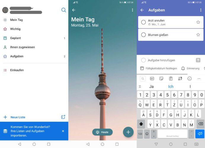 Das Bild zeigt Screenshot des Microsoft To-Do-App, eine der beliebtesten To-Do-Listen-Apps. Bild: Screenshot Microsoft To Do/Montage PC-SPEZIALIST