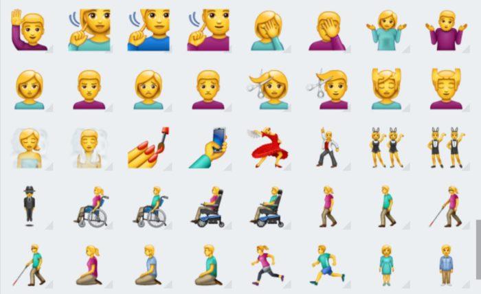 Das Bild zeigt einige neue Emojis bei Microsoft Swiftkey. Bild: Screenshot PC-SPEZIALIST
