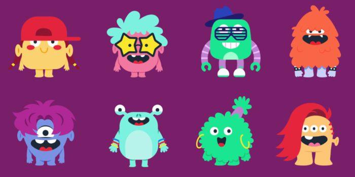 Zu sehen sind Fantasiegestalten, die bei Spotify Kids Beta als Avatare angelegt werden können. Bild: Screenshot Spotify