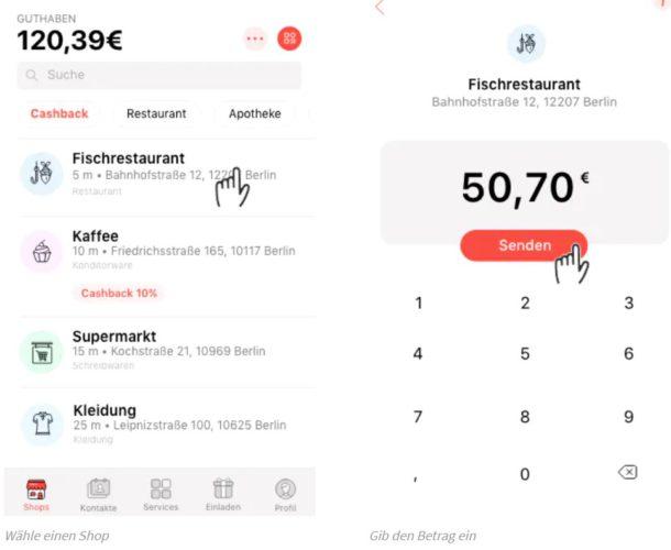 Das Bild zeigt einen Screenshot der App Satispay. Bild: Screenshot Satispay