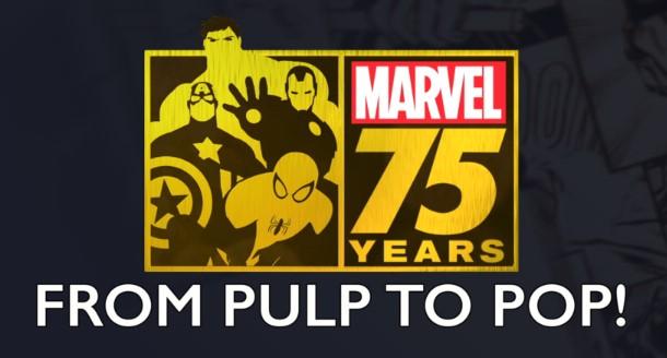 Poster zur Geschichte Marvels, die in der Doku Marvel 75 Years From Pulp To Pup beschrieben wird. Bild: Screenshot Disneyplus.com
