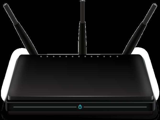 Router-Update: Das Bild zeigt einen schwarzen Router. Bild: Pixabay